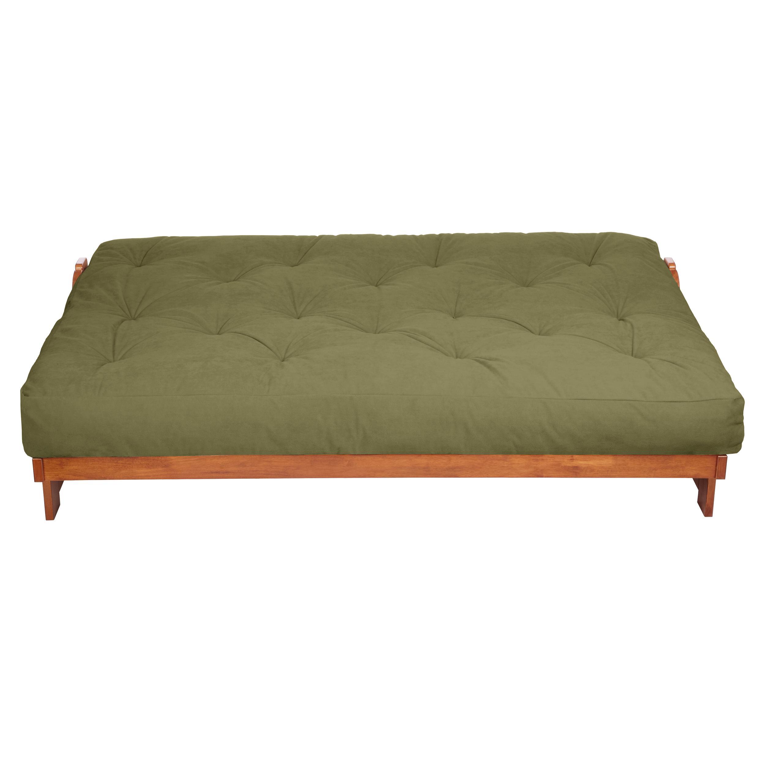 mozaic 12 inch futon mattress twin sage green suede