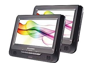 dvd player;portable dvd; travel dvd; dual screen; tablet;