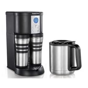 Cuisinart Coffee Maker Travel Mug : Amazon.com: Hamilton Beach Coffee Maker, Stay or Go Digital with Thermal Insulated Carafe ...