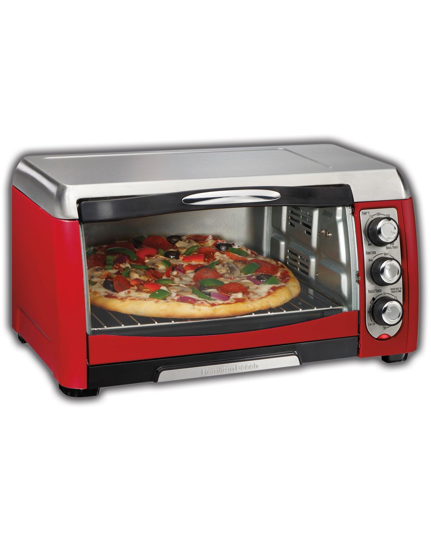 Amazon.com: Hamilton Beach 31335 Ensemble 6-Slice Toaster Oven, Red ...