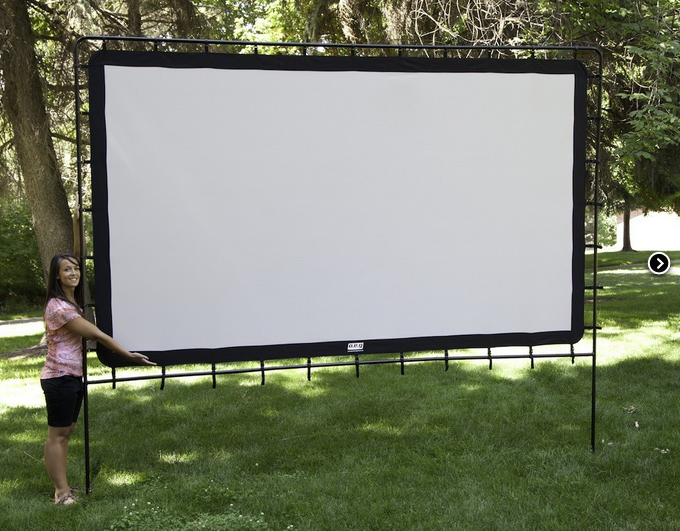 Large Portable Projector Screens : Indoor outdoor portable super sized quot home theater