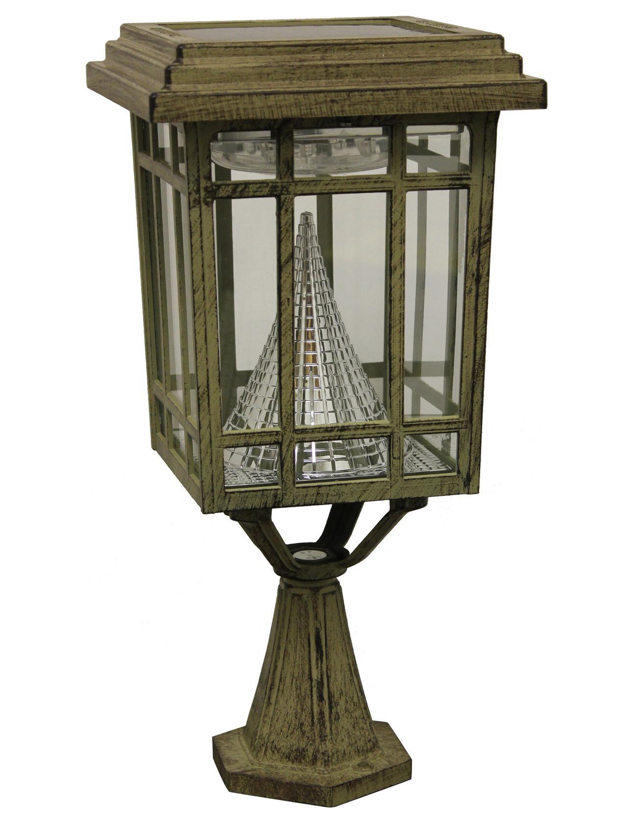 Amazon.com : Gama Sonic Prairie Solar LED Light Fixture, Pole/Post