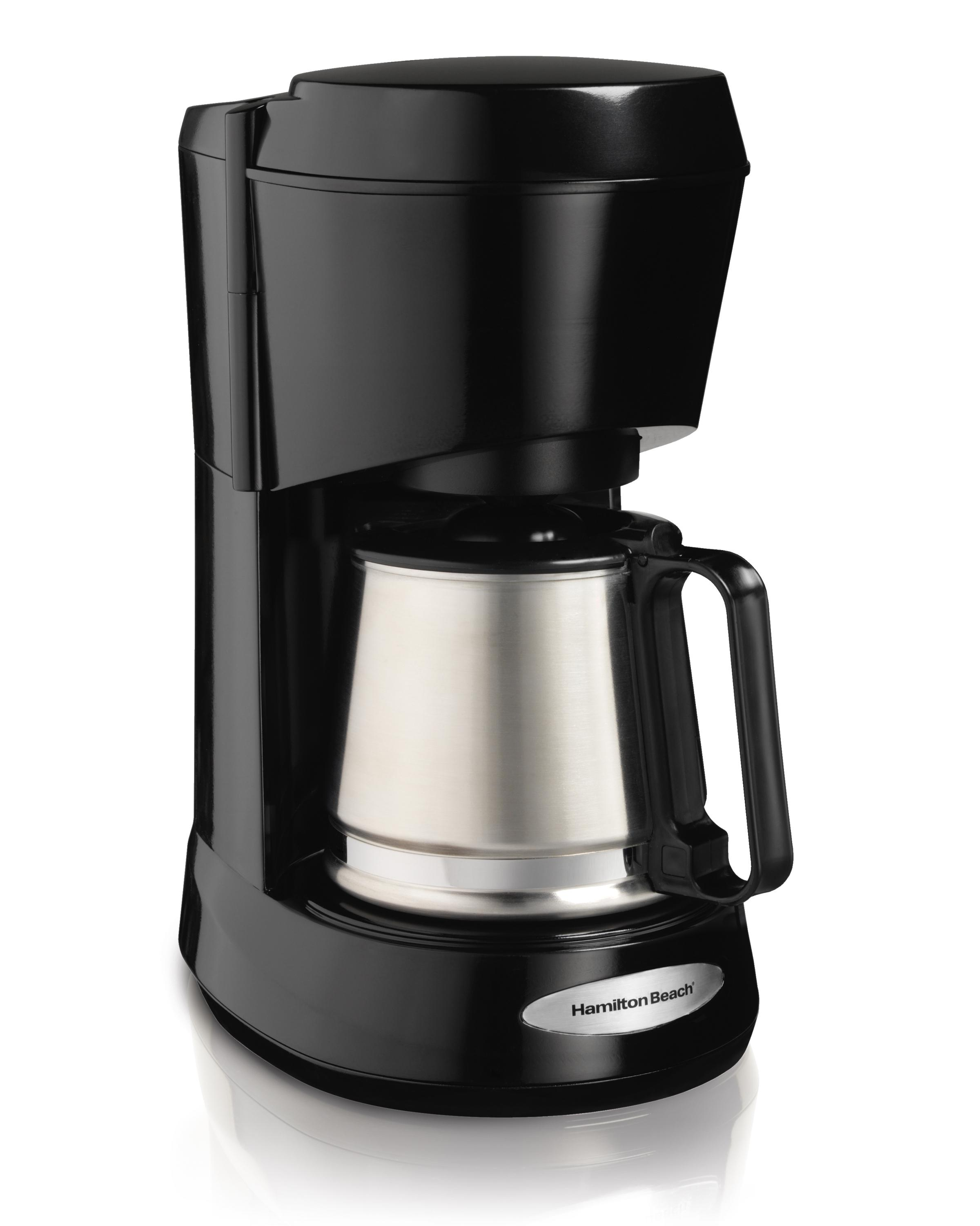 Amazon.com: Hamilton Beach 5-Cup Coffee Maker with Stainless Carafe (48137): Drip Coffeemakers ...