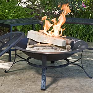 CobraCo Cast Iron Fire Pit in use