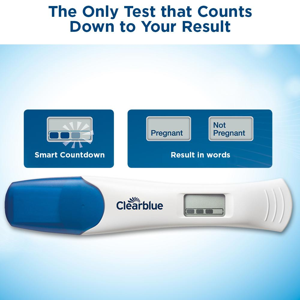 clearblue digital pregnancy test w t smart countdown 3 ct exp2016 fastshipping ebay. Black Bedroom Furniture Sets. Home Design Ideas