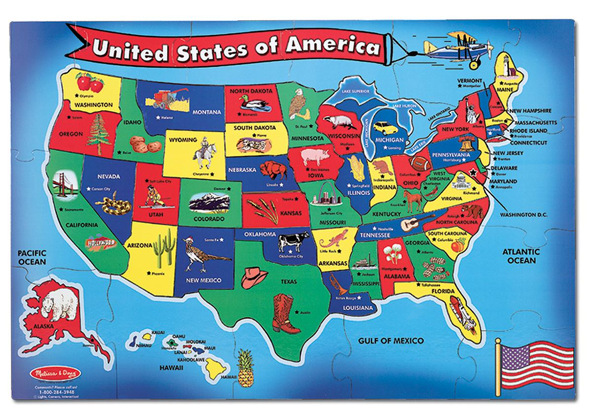 Learn us states location game