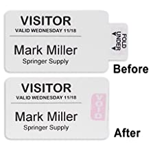 Time's Up! Self-Expiring Direct Thermal Printer Badges