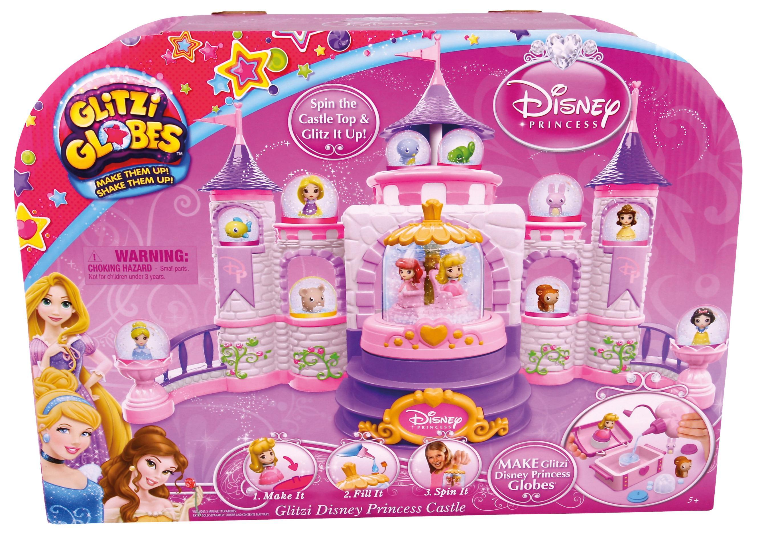 princess, spin, sparkle, castle, globe, wear, display, mini, domes