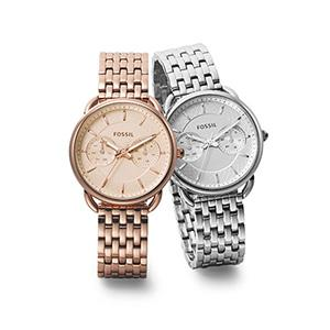 Amazon.com: Fossil Women's ES3712 Tailor Silver-Tone Stainless Steel