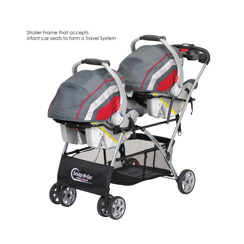 double stroller frame infant car seat carrier baby carriage lightweight travel ebay. Black Bedroom Furniture Sets. Home Design Ideas