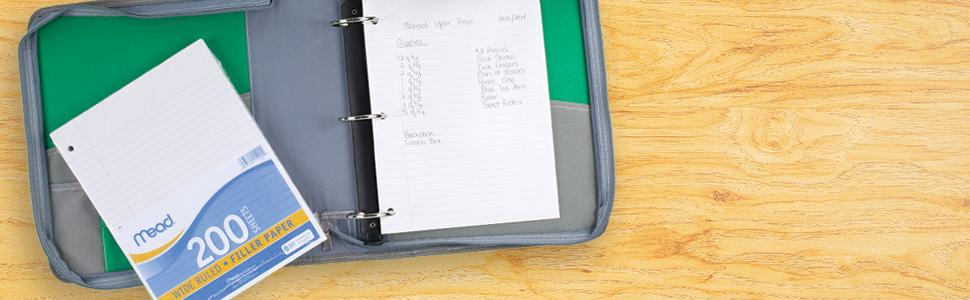 Notebook Paper, Filler Paper