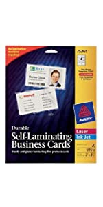 Avery Self-Laminating Cards