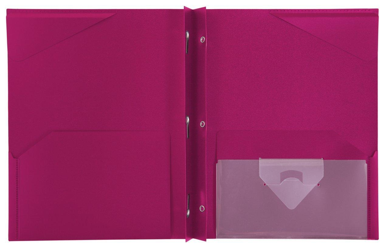 Five star stay put pocket folder 11 62 x 9 31 x 25 inches red