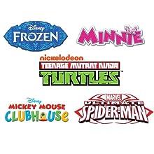 frozen, anna, elsa, disney, princess, dora, nick, ninja, turtles, tmnt, elmo, minnie, mickey, cars