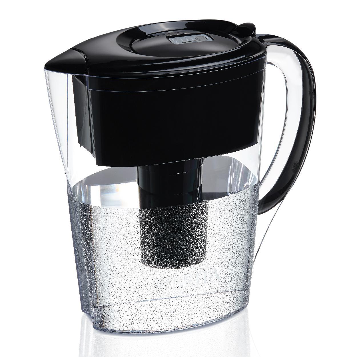 Brita Space Saver Water Filter Pitcher Black