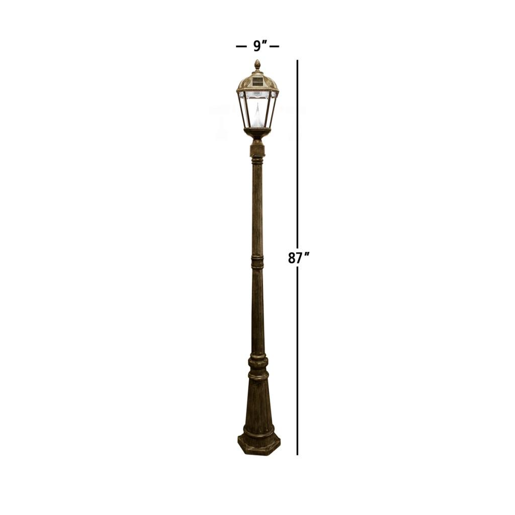 gama sonic royal solar lamp post and single. Black Bedroom Furniture Sets. Home Design Ideas