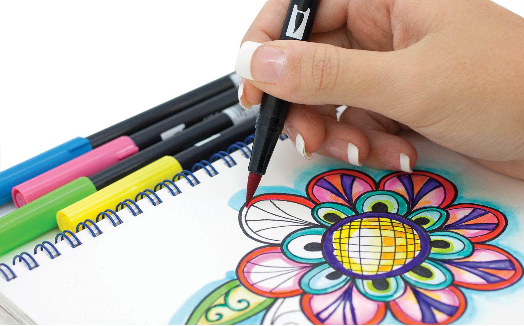 Amazon Com Tombow Dual Brush Pen Art Markers 96 Color Set