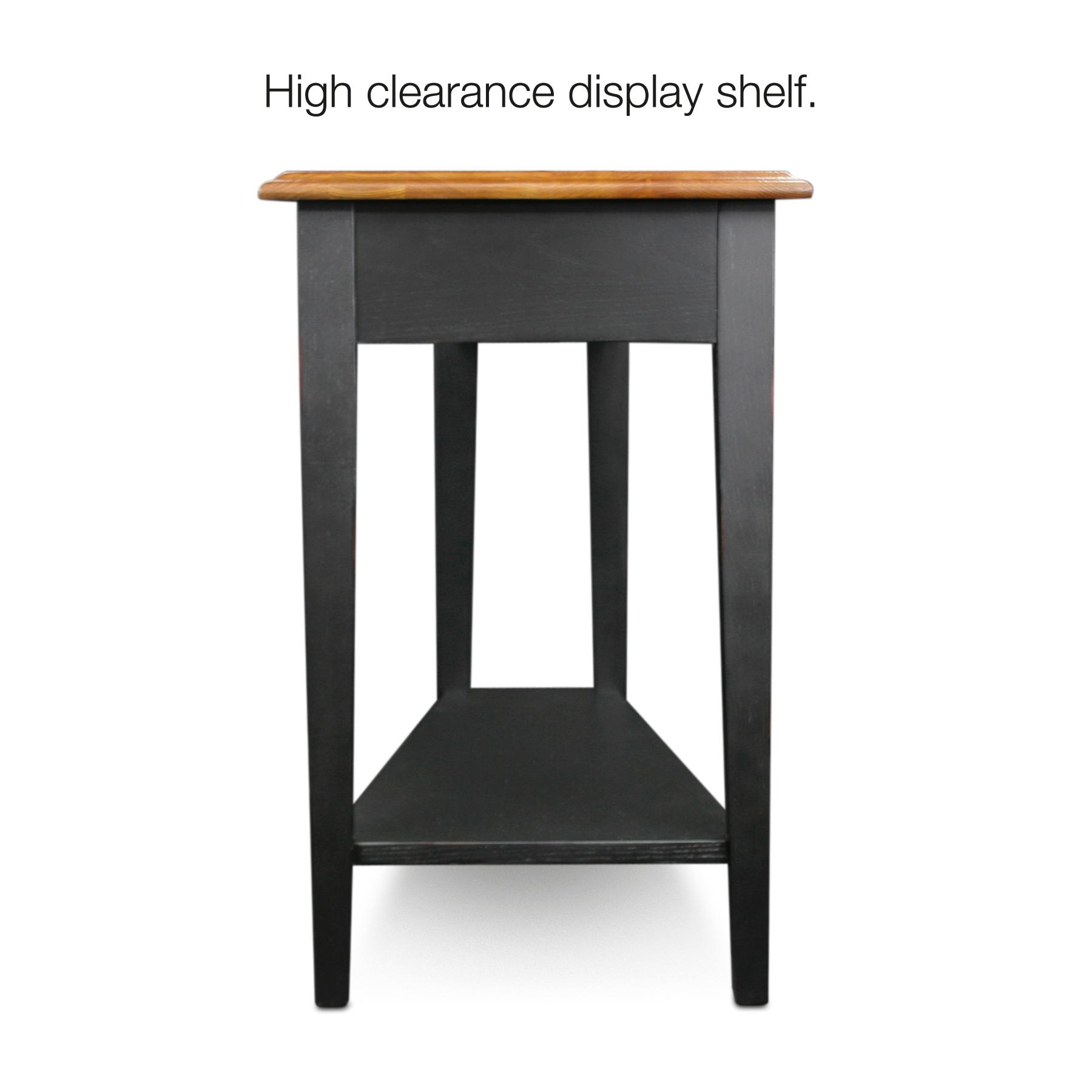 Leick Recliner Wedge End Table Black Wayfair End Tables