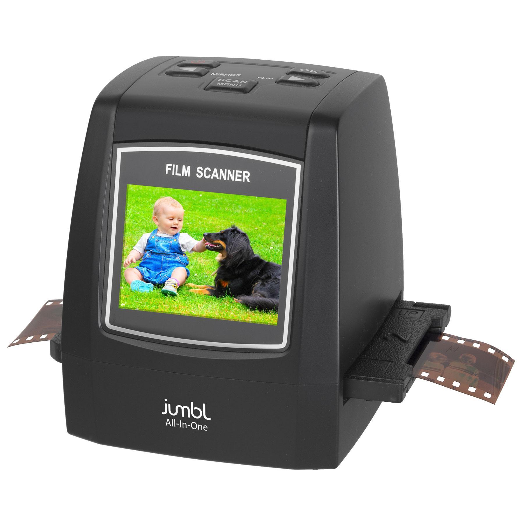 jumbl 22mp all in 1 film slide scanner w speed load adapters for 35mm negative. Black Bedroom Furniture Sets. Home Design Ideas
