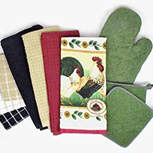 terry towels; terry ovenmitt; ovenmitt; oven mitt; potholder; pot holder; heat protection; dii