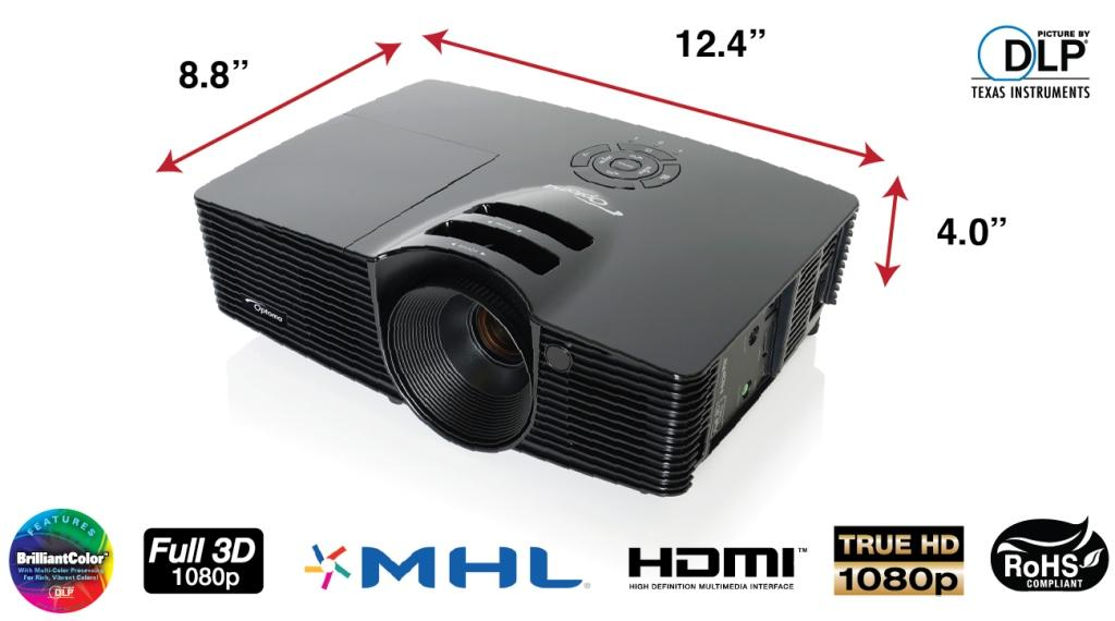 Amazon.com: Optoma HD141X 1080p 3D DLP Home Theater Projector ...