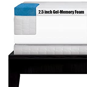serta gel memory foam mattress topper