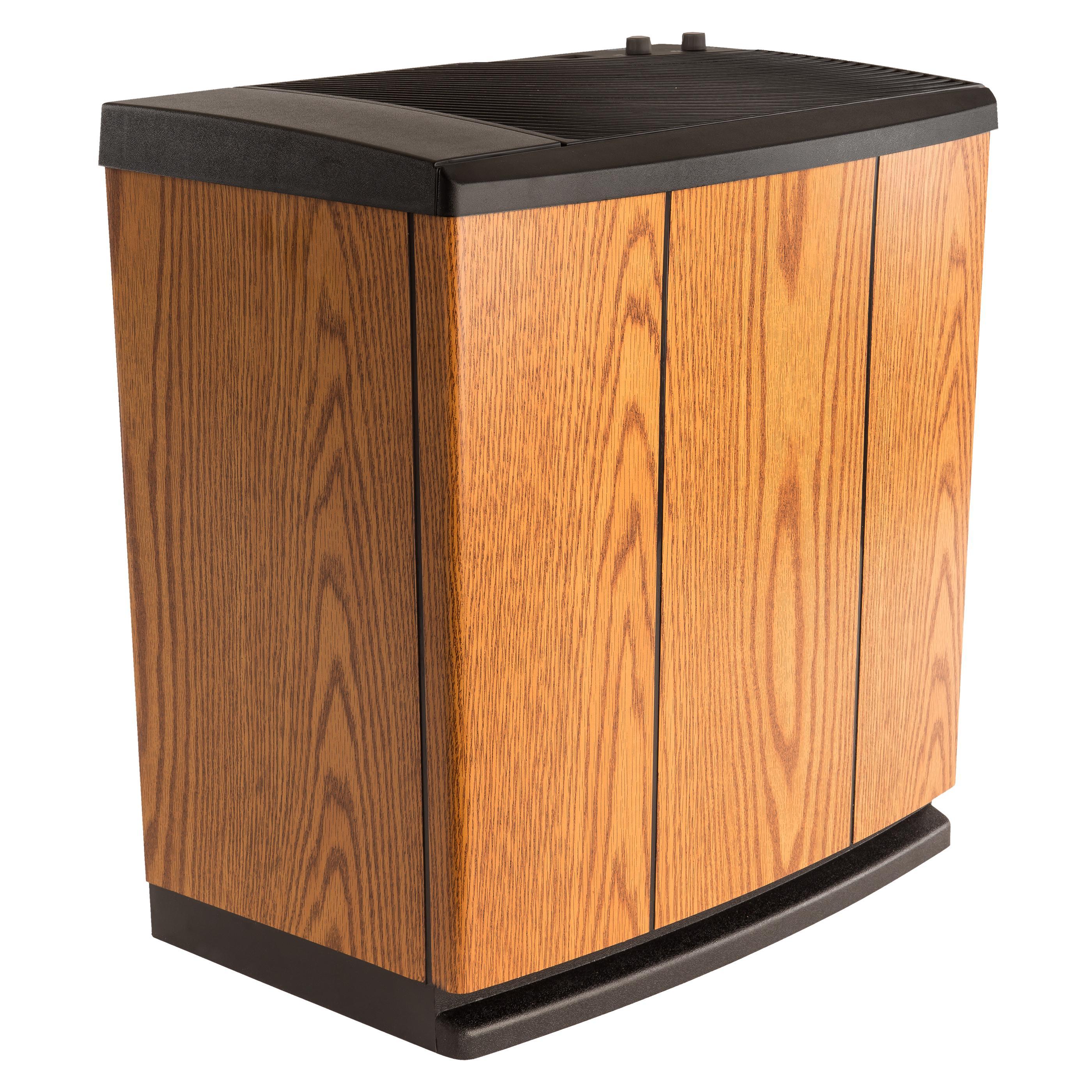 Humidifier Light Oak Black Trim Portable House Humidifier #C76B04