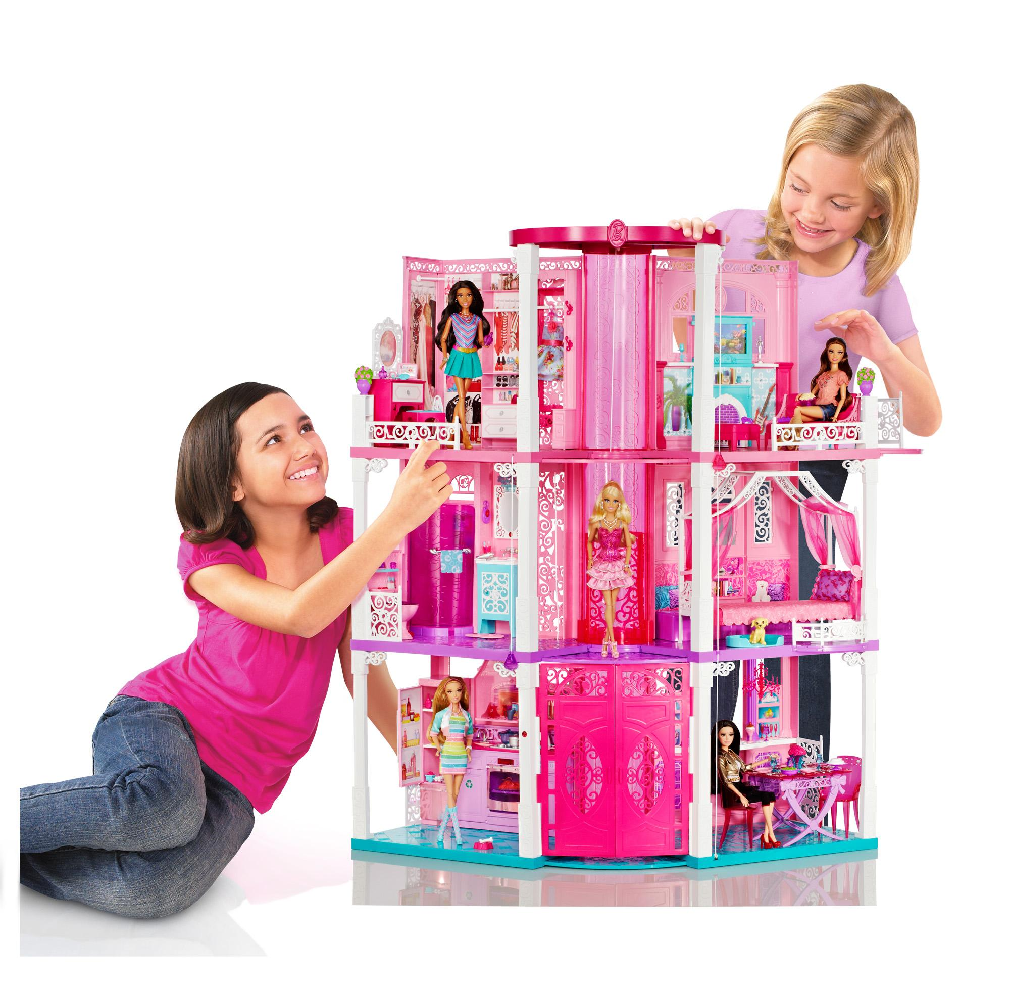 Barbie Dream Hous: Barbie Doll By Mattel 3 Story Deluxe Folding Townhouse