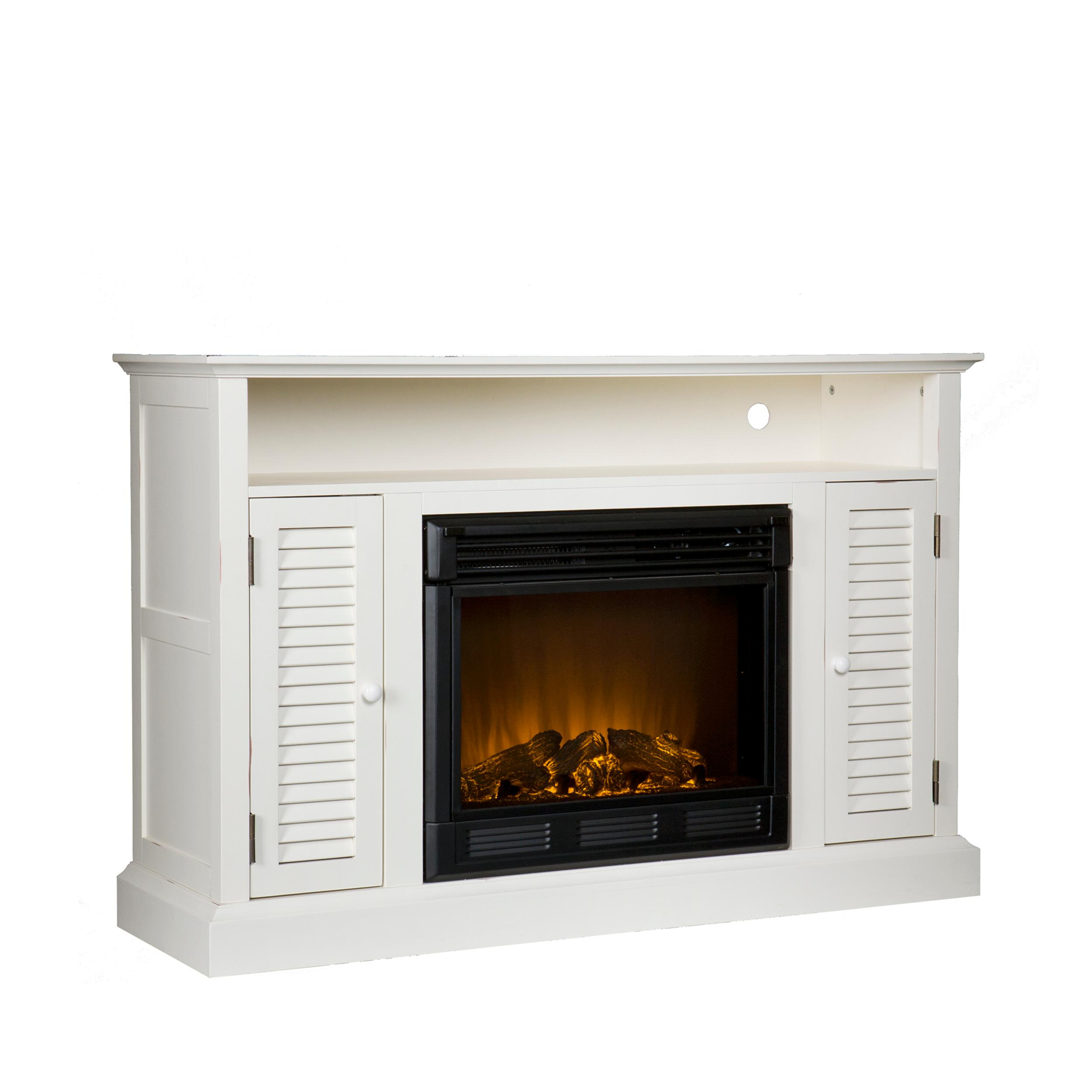 media console with electric fireplace antique white media fireplace