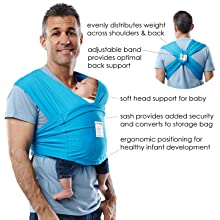 baby k'tan front carrier; sizing chart; baby carrier; baby ktan; infant; sling; soft carrier; wrap;