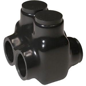 Black Insulated Connectors, Mechanical Connectors, Power Connectors, Dual Entry, Splice/Reduce