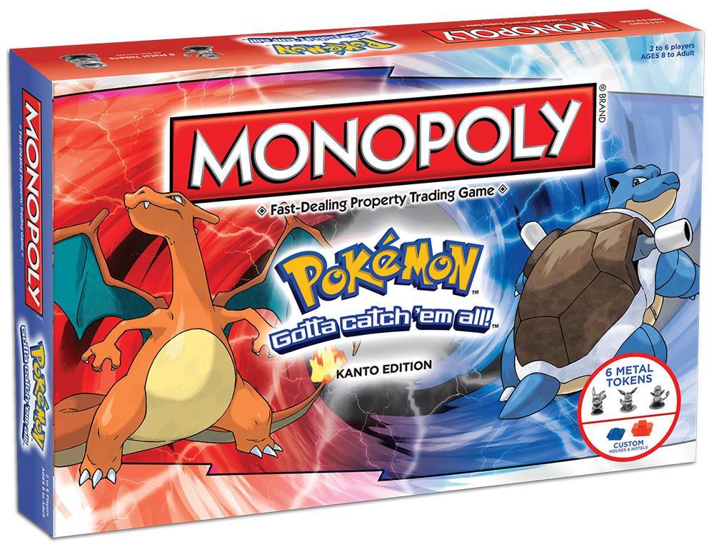 Board Games Toy : Amazon monopoly pokemon kanto edition game toys