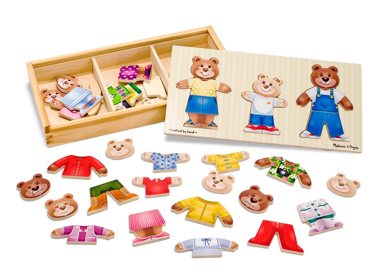 Melissa Doug Toys : Amazon melissa doug wooden bear family dress up