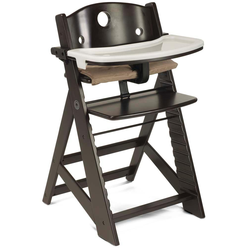 keekaroo height right wooden high chair with tray baby infant booster seat table ebay. Black Bedroom Furniture Sets. Home Design Ideas