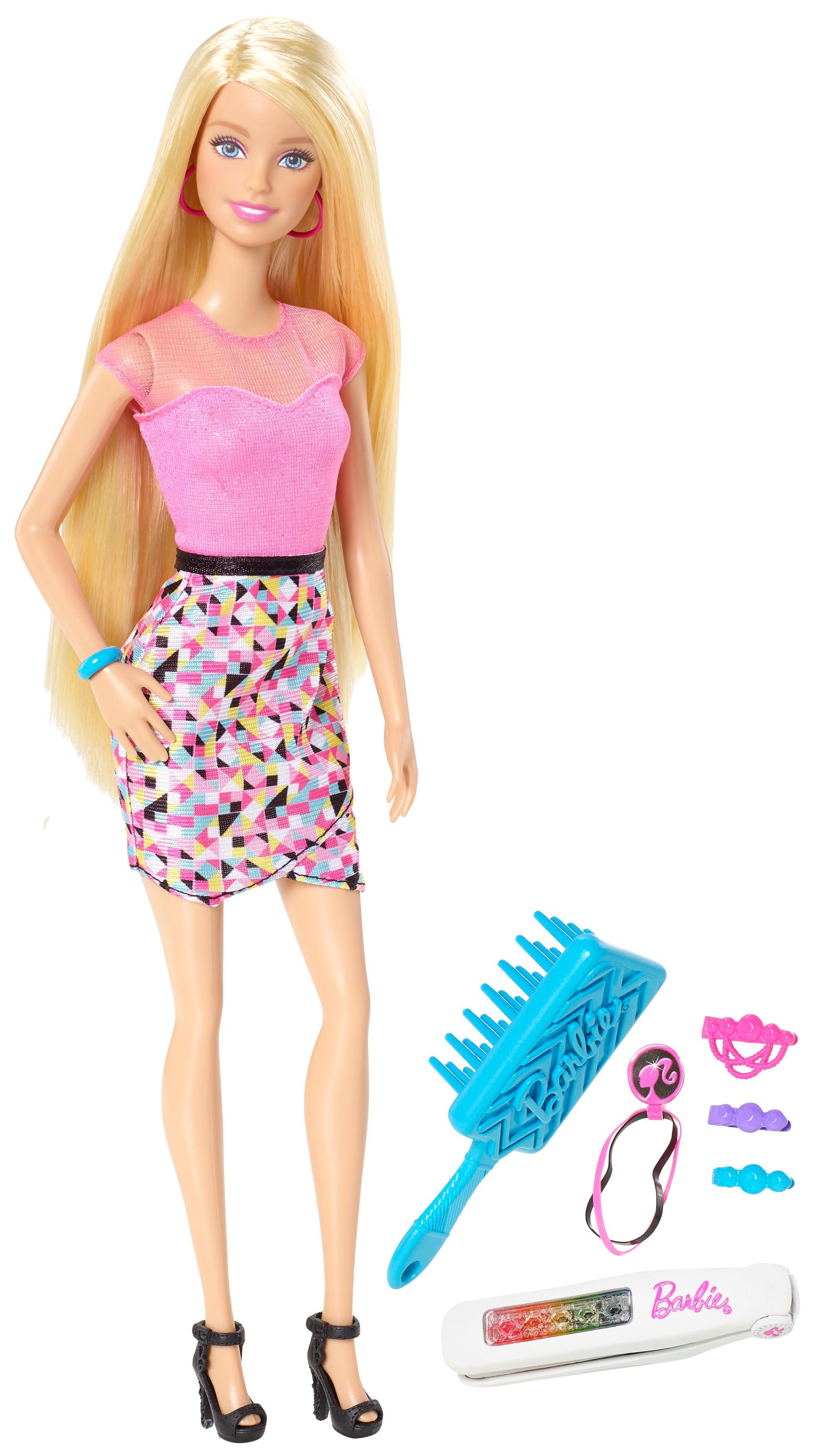 Barbie hair coloring games - Barbie Rainbow Hair