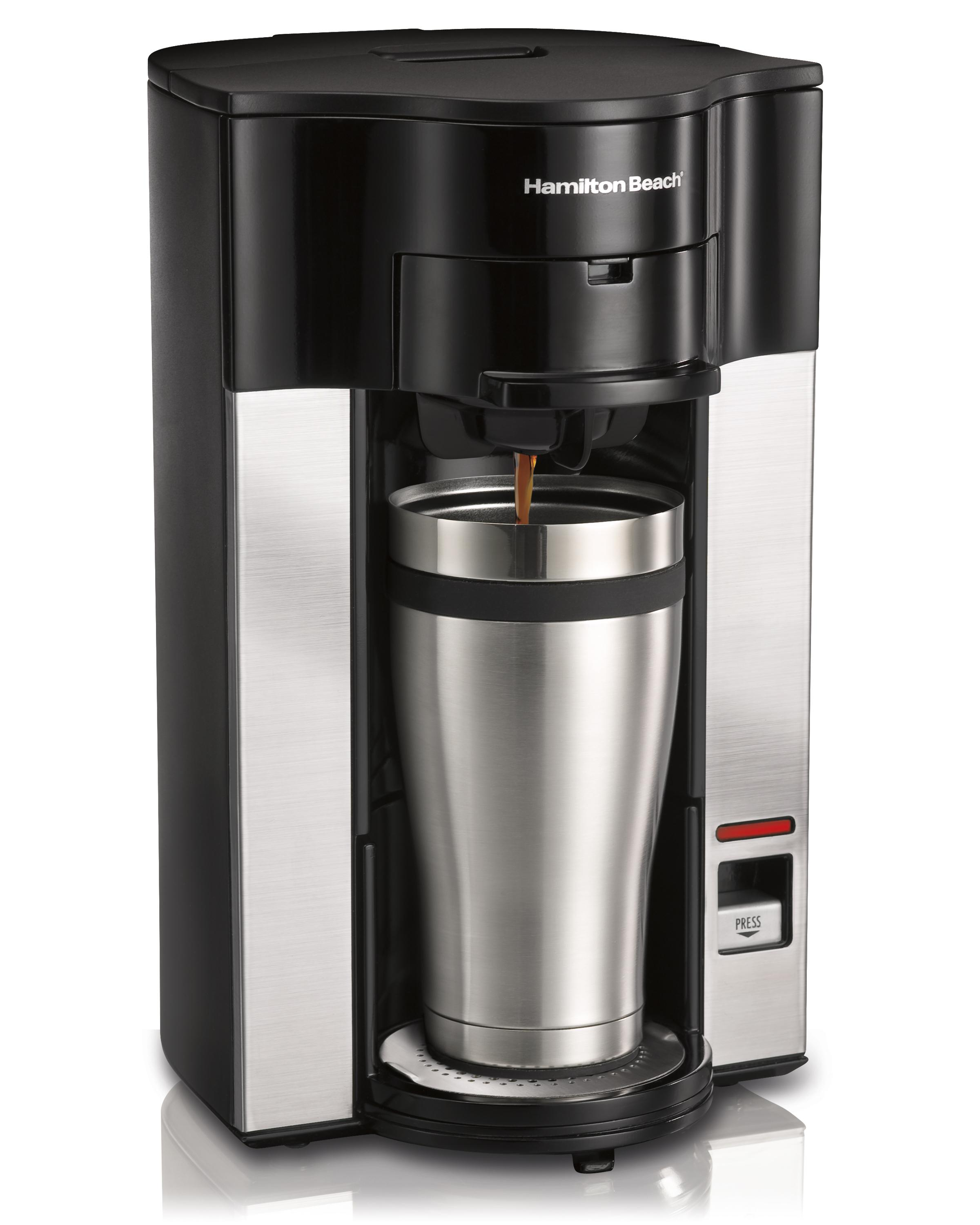 Single Cup Coffee Maker Uses Grounds : Hamilton Beach 1Cup Coffee Maker Brewer W/8 Senseo POD 40094499908 eBay