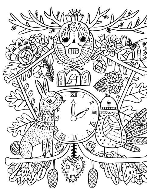 Just Add Color: Day of the Dead: 30 Original Illustrations To Color
