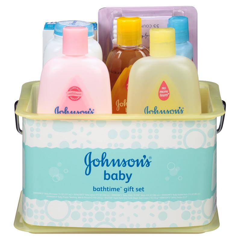 johnson 39 s bathtime essentials gift set contents may vary health personal care. Black Bedroom Furniture Sets. Home Design Ideas