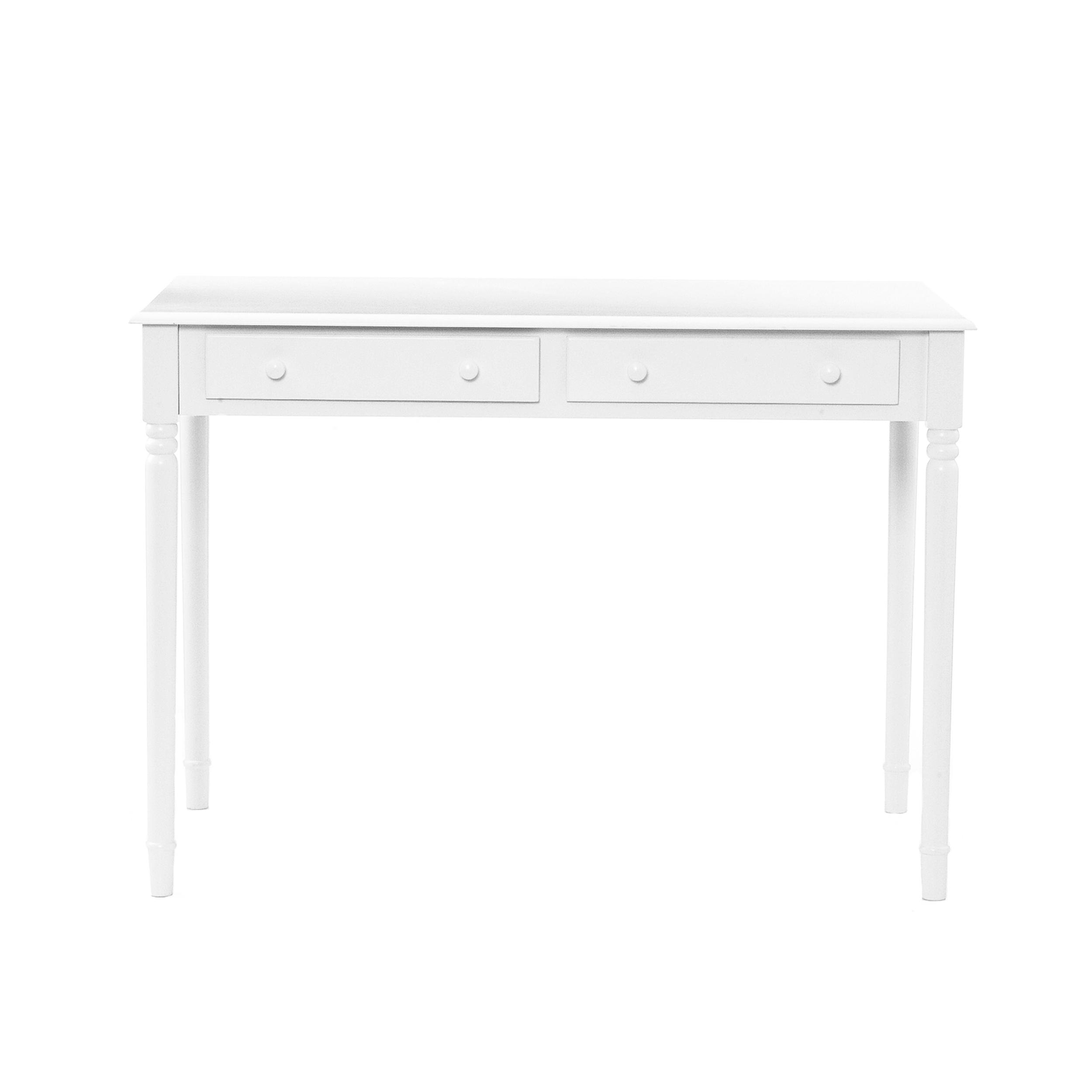 Amazing photo of  com SEI 2 Drawer Wood Writing Desk Crisp White Home Office Desks with #666666 color and 2500x2500 pixels
