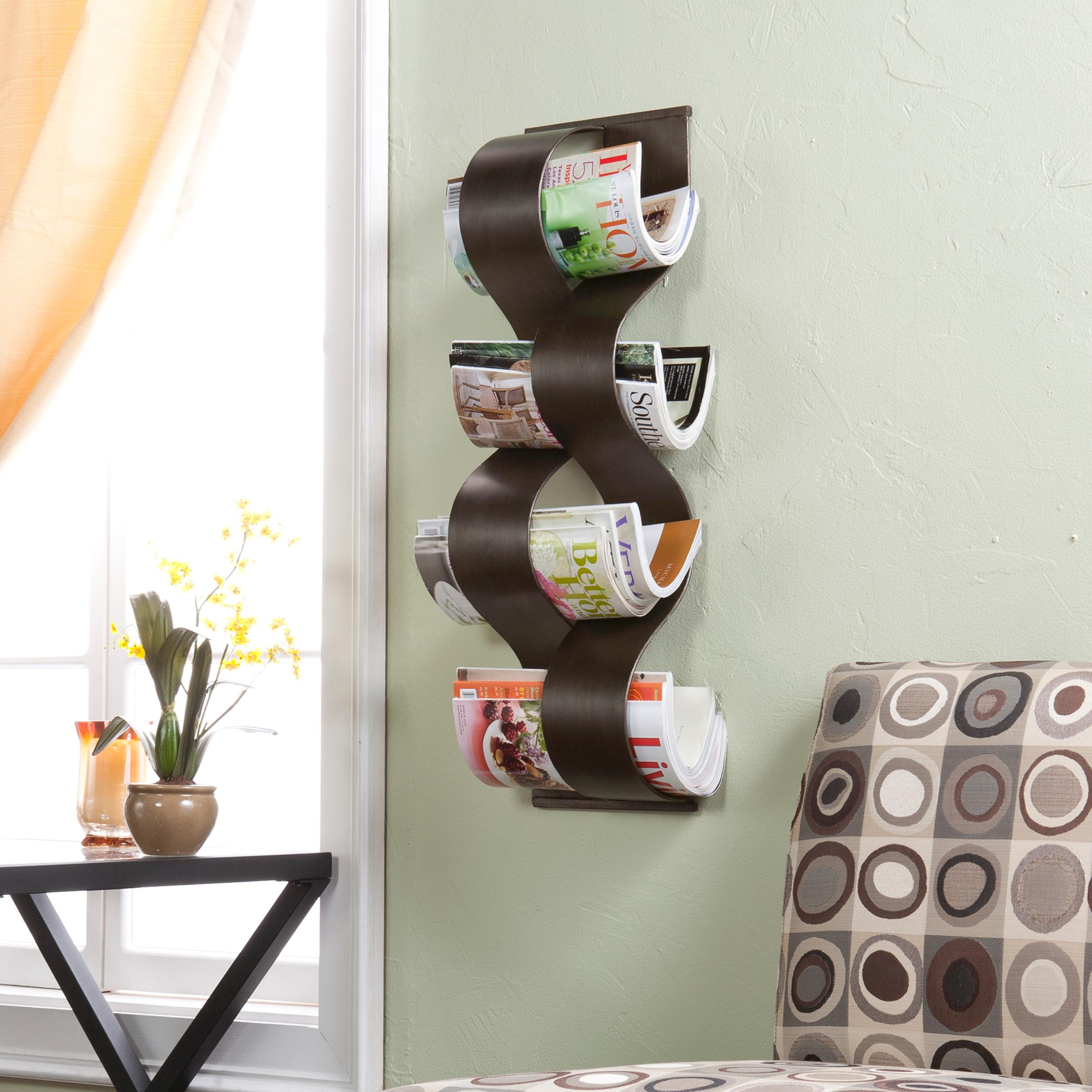View larger for Wall mounted bathroom magazine rack