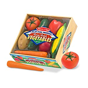 vegetables, pretend play, play food, kitchen, farm, grocery store, toys