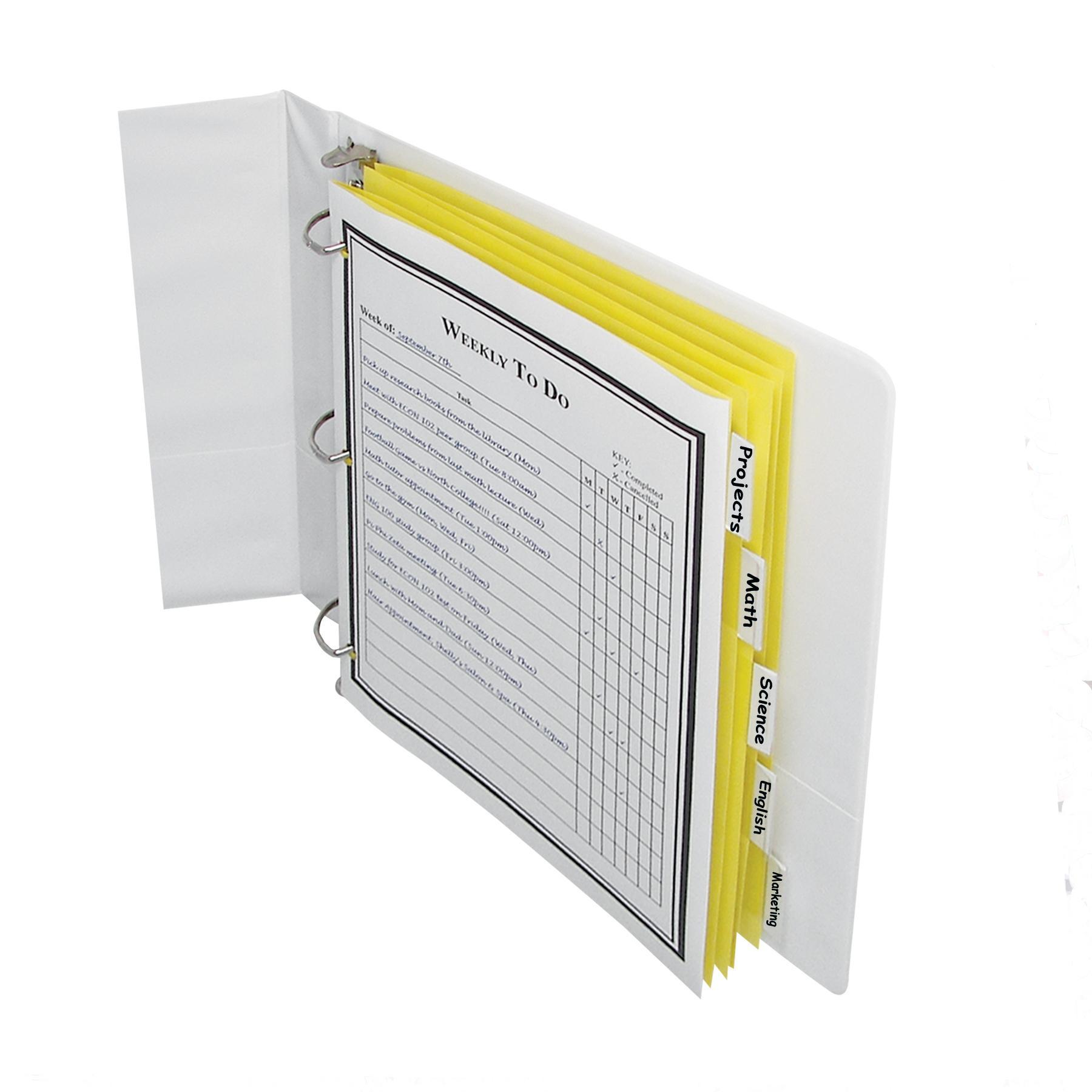 Line Paper Index Dividers, 5-Tab, Assorted Color Tabs, Fits Standard