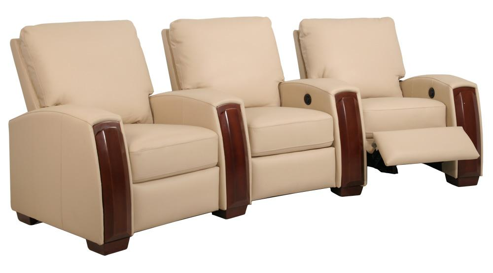 Seatcraft capella collection home theater seating with power recline row of 3 black Home theater furniture amazon