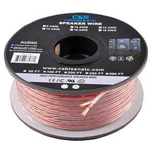 C E 100 Feet 14AWG Enhanced Loud Oxygen Free Copper