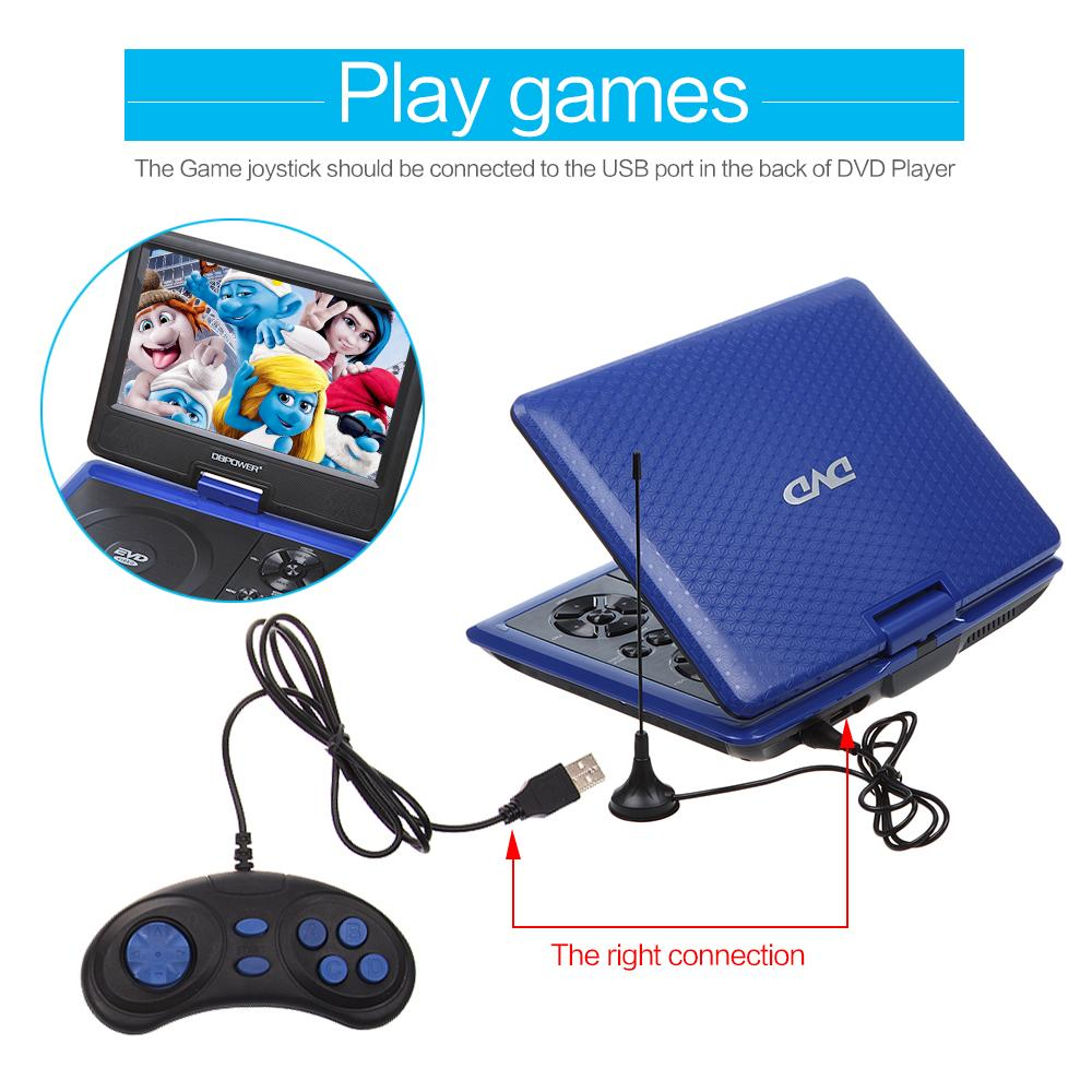 Amazon.com : DBPOWER Portable DVD Player, 2 Hours Rechargeable Battery, Swivel Screen, Supports