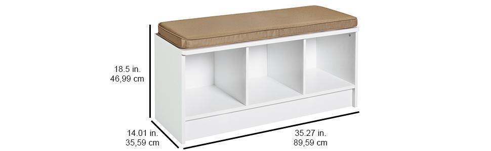 Closetmaid 1570 Cubeicals 3 Cube Storage Bench