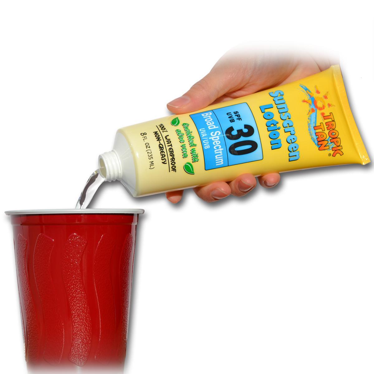 Amazon.com | GoPong Hidden Sunscreen Alcohol Flask, 2-Pack: Flasks
