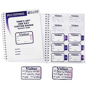 Time's Up Self-Expiring Visitor Badges with Registry Log