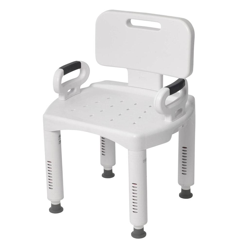 Shower Bath Seat Stool Chair Medical Arms Adjustable Bench