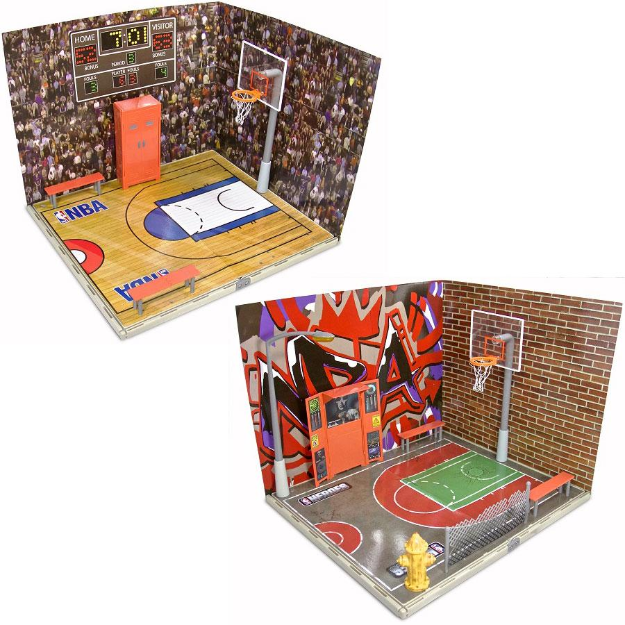 NBA Heroes Arena Set, accessories, basketball arena, street court